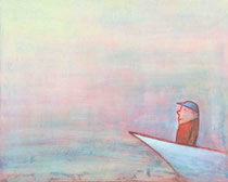 SCHIFF II, Acryl  80X100 cm  1.900,-€