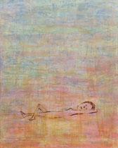 LIEGENDE, Acryl   100X80 cm