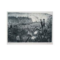 MÜLLKIPPE  1980, 21X32 cm  165,-€
