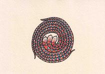 SCHLANGEN III.1 10X14,5 cm 90,-€