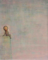 ABHANG (SITZENDER), Acryl  100X80 cm 1.900,-€