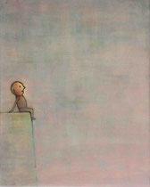 ABHANG (SITZENDER), Acryl  100X80 cm