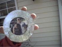 CD den yapılan resim çerçevesi