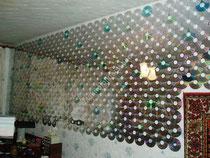 CD den yapılan duvar kaplama