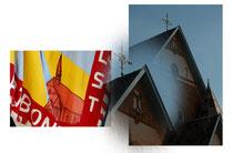 Vlag Bond van het Heilig Hart. Bond bestaat sinds 1931
