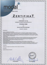 Sachverständigen-Zertifikat