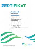 Zertifikat Das effiziente Wohngebäude