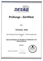 Prüfungs-Zertifikat