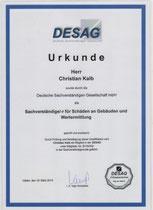 Urkunde DESAG