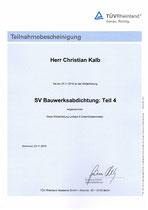 Teilnahmebestätigung Bauwerksabdichtung (TÜV)