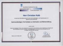 Urkunde BSG