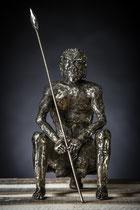 Esprit primitif  Hauteur 31cm   Inox