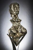 L'origine  Hauteur 72cm  Inox