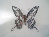 Papillon   30x30cm   Inox