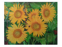 Sonnenblumen: 80x100cm