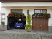 Garagen mit Feigenspalier