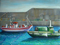Ria Gallega, Esmalte sobre pintura acrilica.