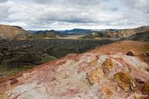 Blick vom Vulkan Brennisteinsalda