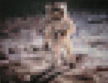 Mondlandung, Öl auf Leinwand, 2014