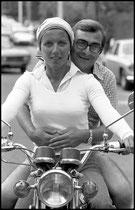 Claude Chabrol et Stéphane Audran, été 1972