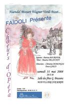 Affiche Concert mai 2008 Choeurs d'Opéra - Villiers sur Marne