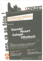 Affiche Concert des 40 ans juin 2004 - Villiers sur Marne