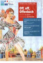 Affiche Concert Offenbach juin 2007 - Villiers sur Marne