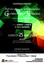 Affiche concert du 25 mai 2019 - La Petite Messe Solennelle de Rossini