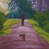 Borderline Walk -2009- Oil on canvas/30x30cm