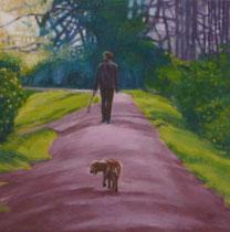 Borderline Walk -2009- Oil on canvas/30x30cm