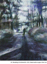 Wandeling in het Winterlicht -2010- Mixed media on paper/32x41cm