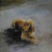 Autumn flavor -2008- Mixed media on canvas board/30x30cm