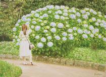 1《紫陽花》  F4/¥11,000(税込)