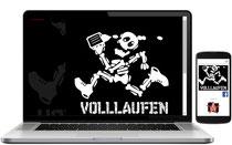 Webvisitenkarte für Volllaufen.de - a brand of Guerilla Sport Fashions