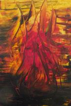 """Nr. 53 """"Feuer"""" Acryl auf Leinwand 70 x 50 (verkauft)"""