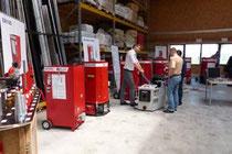 Maschinenberatung und Präsentation Einblasrefiner für Holzfaser
