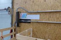 Anlage für Forschung und Vorführung verschiedener Strömungszustände in der Dämmstoffförderung.