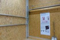 Fixverrohrung z.B. für stationäre Einblasanlagen.