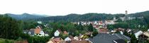 Panorama, Neuhaus mit Burg Veldenstein