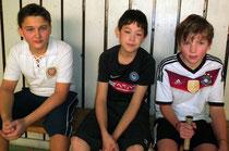 Jungen U14, v.l.n.r. Jan Ebert, Keiji Ebert, Nils Winterberg