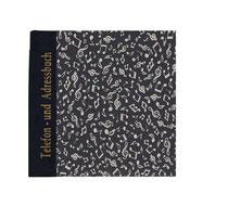 Telefonbuch Adressbuch tanzende Noten beige auf schwarz