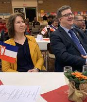Birgit Payonk und Carsten Fürst beim Neujahrsempfang der Gemeinde Hohenlockstedt