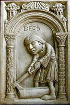 DICEMBRE - Disponibile in gesso o in pietra.  DECEMBER - Available in plaster or arenary stone.