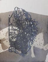 Schattenzauber, Mischtechnik auf Bütten,  30 x 23 cm, 2019