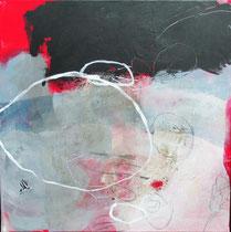 Reise II,  Collage, Pigmente, u.a. 50 x 50cm