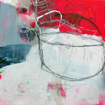 Reise IV,  Collage, Pigmente, u.a. 50 x 50cm