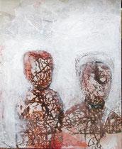 Nachkommen, Mischtechnik, Ölfarbe, Wachs auf Leinwand, 2019