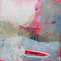 Reise III,  Collage, Pigmente,u.a. 50 x 50cm
