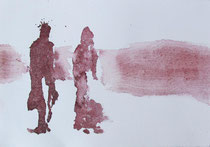 Begegnung, Aquarell, 28 x 20cm