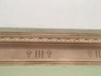 détail après restauration décor à la chaux